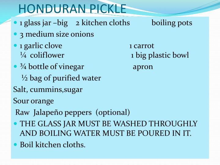 HONDURAN PICKLE