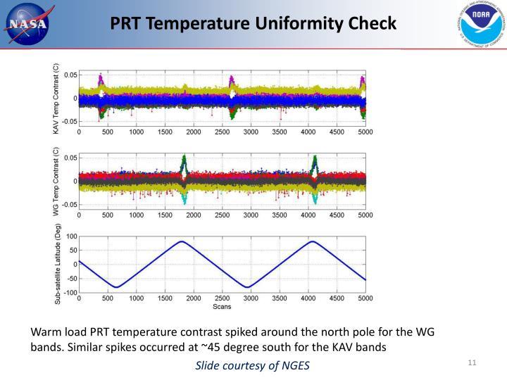 PRT Temperature Uniformity Check
