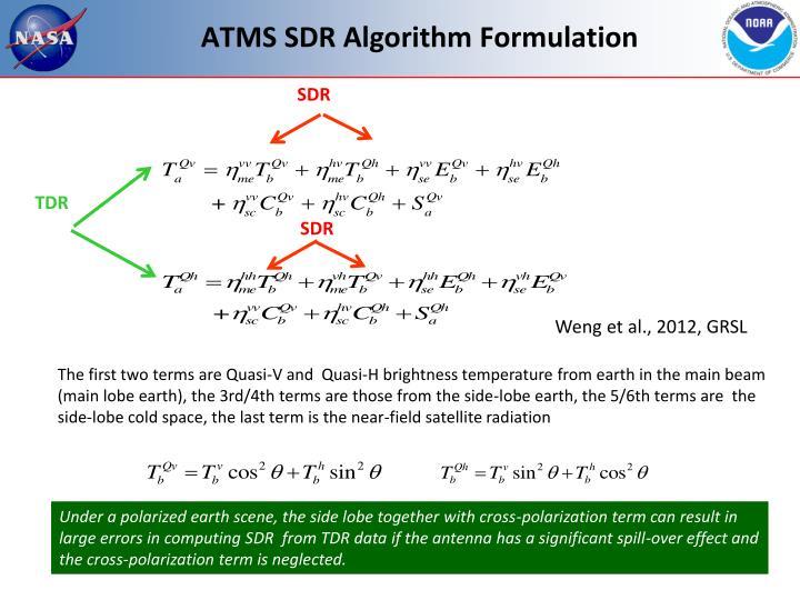 ATMS SDR Algorithm Formulation