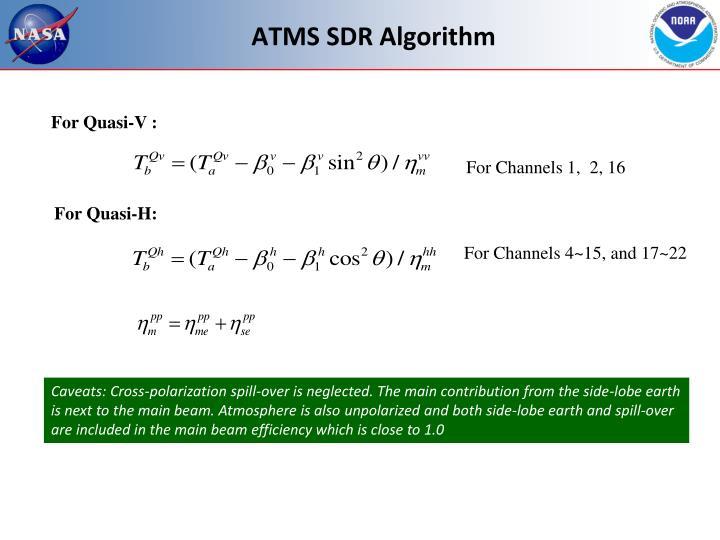 ATMS SDR Algorithm