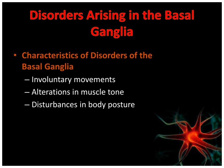 Disorders Arising in the Basal Ganglia