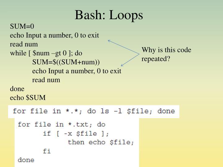 Bash: Loops