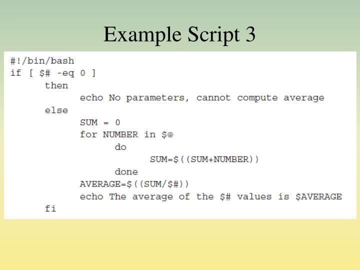 Example Script 3