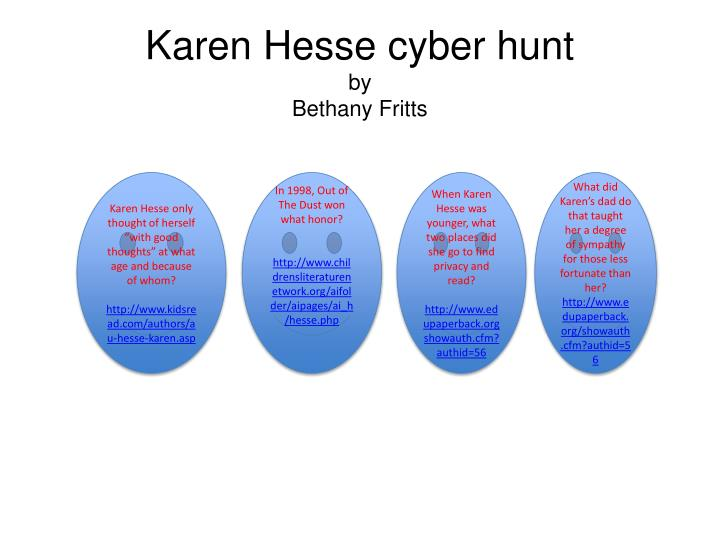 Karen hesse cyber hunt by bethany fritts