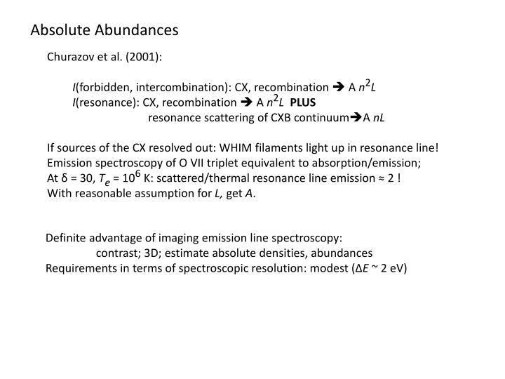 Absolute Abundances