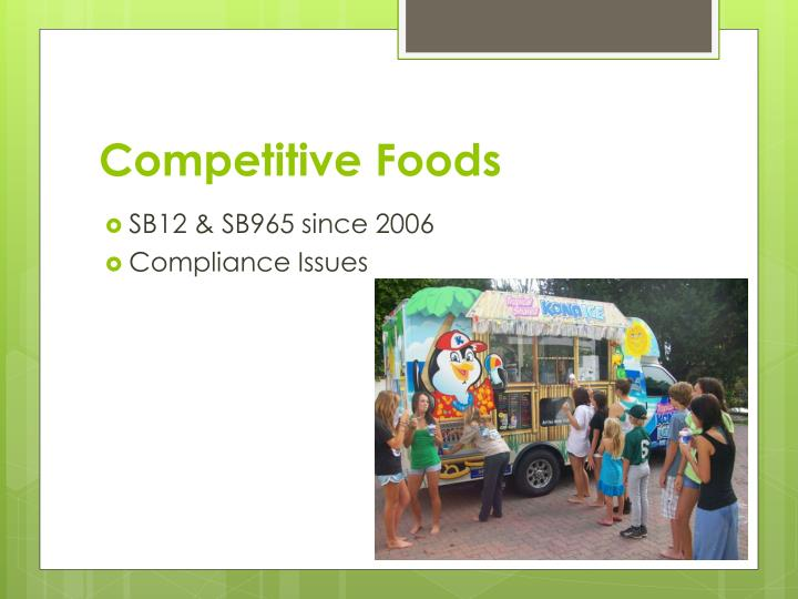 Competitive Foods