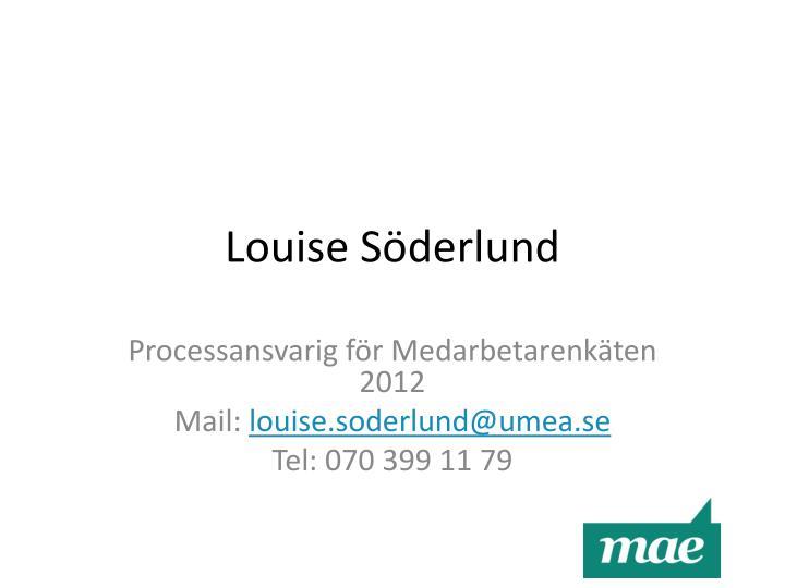 Louise Söderlund