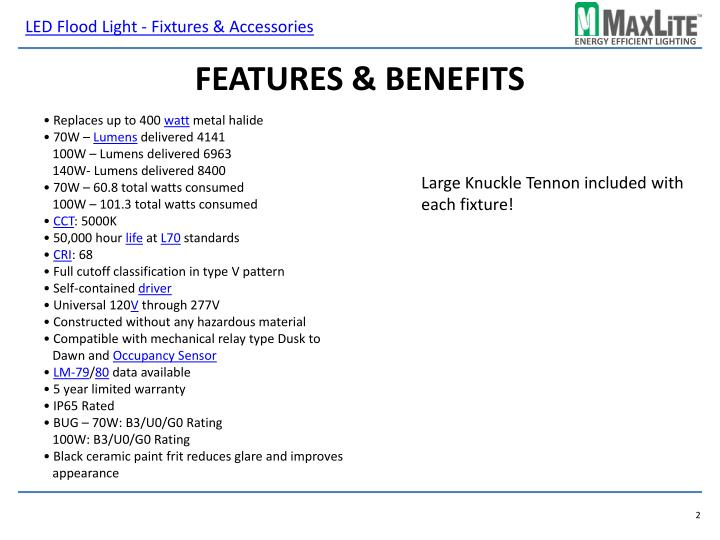 Features benefits