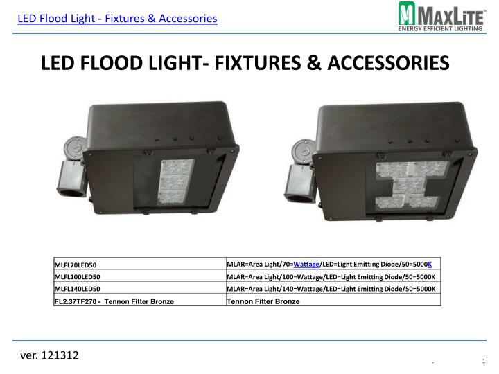 LED Flood Light - Fixtures & Accessories