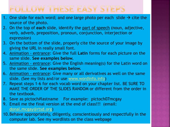 Follow these easy steps
