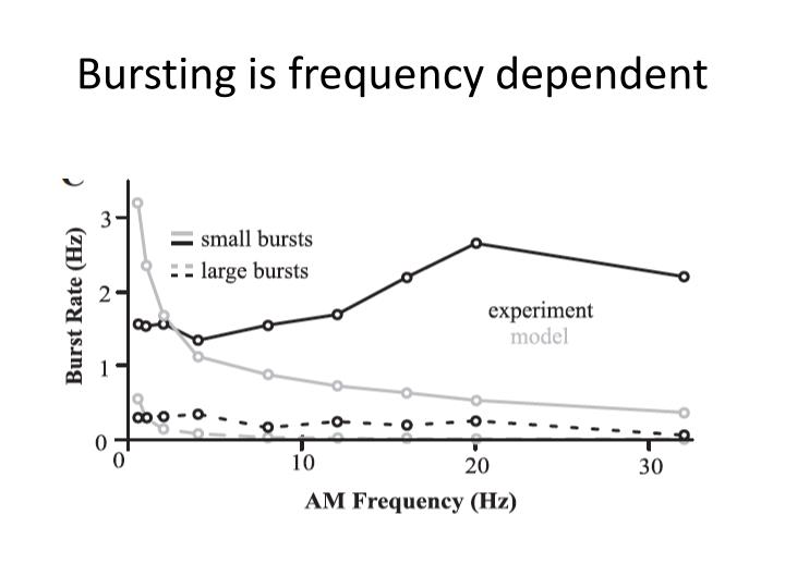 Bursting is frequency dependent