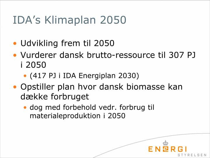 IDA's Klimaplan 2050