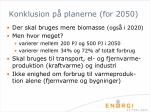 konklusion p planerne for 2050