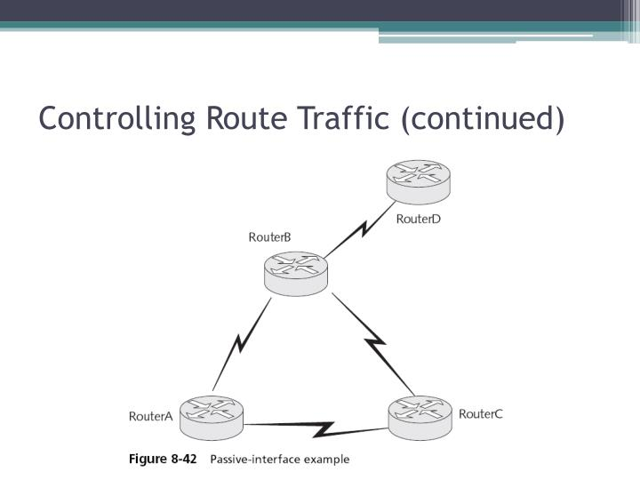 Controlling Route Traffic (continued)