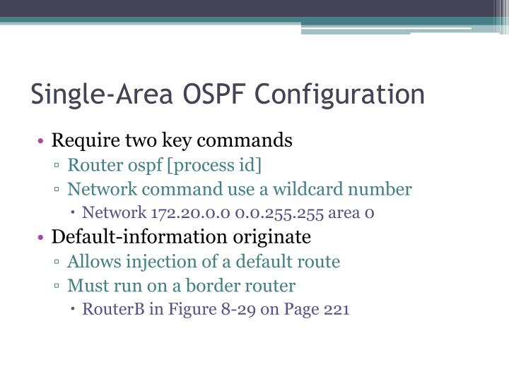 Single-Area OSPF Configuration