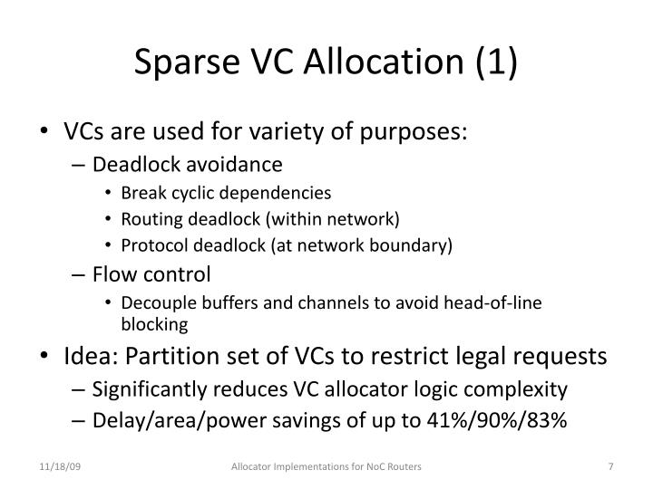 Sparse VC Allocation (1)