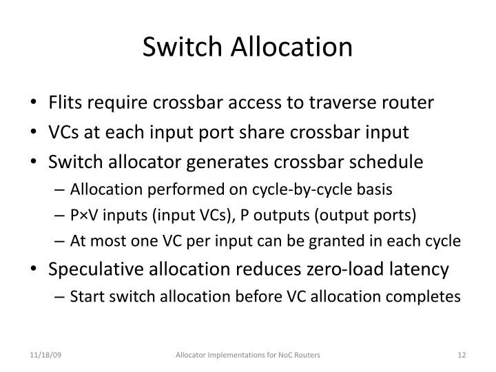 Switch Allocation