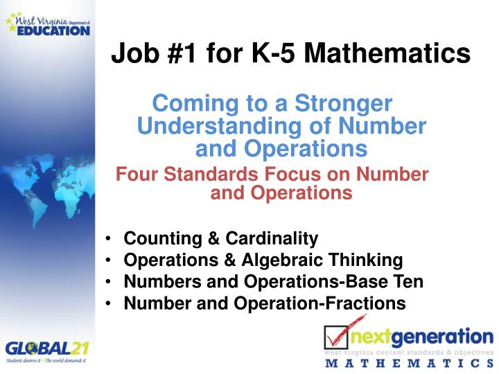 Job #1 for K-5 Mathematics