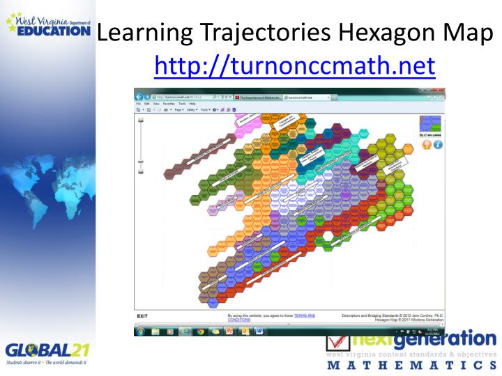 Learning Trajectories Hexagon Map