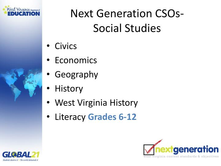 Next Generation CSOs-