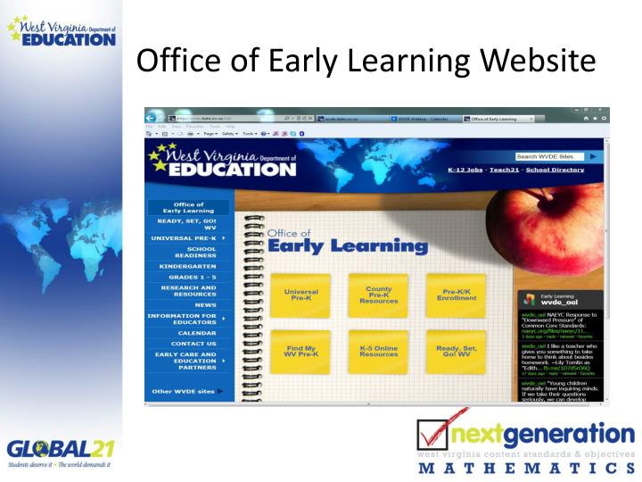 Office of Early Learning Website