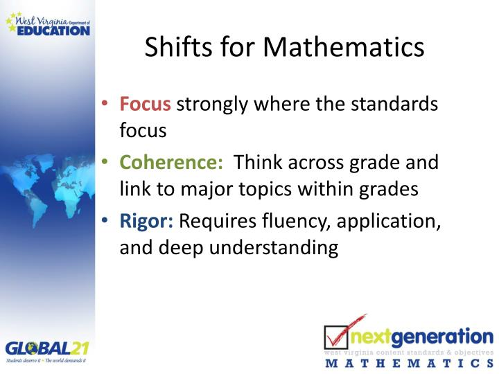 Shifts for Mathematics