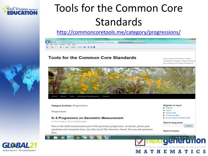 Tools for the Common Core Standards
