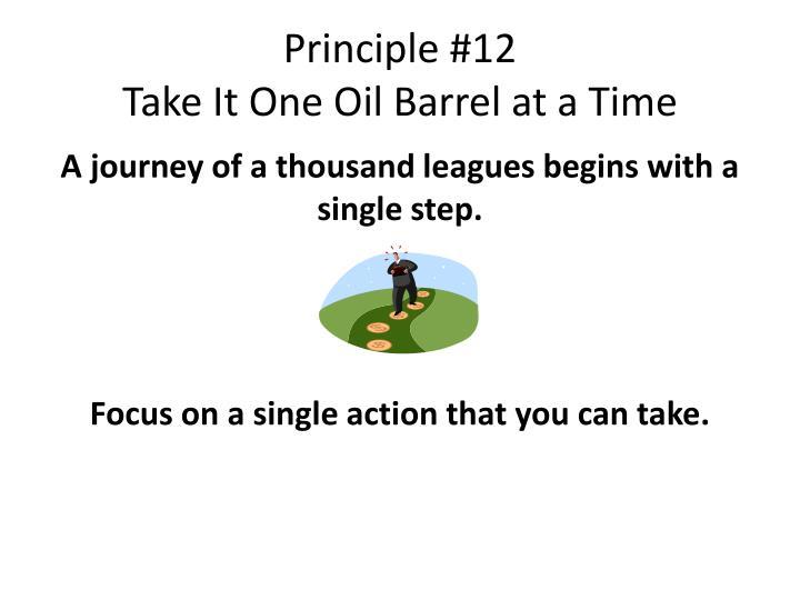 Principle #12