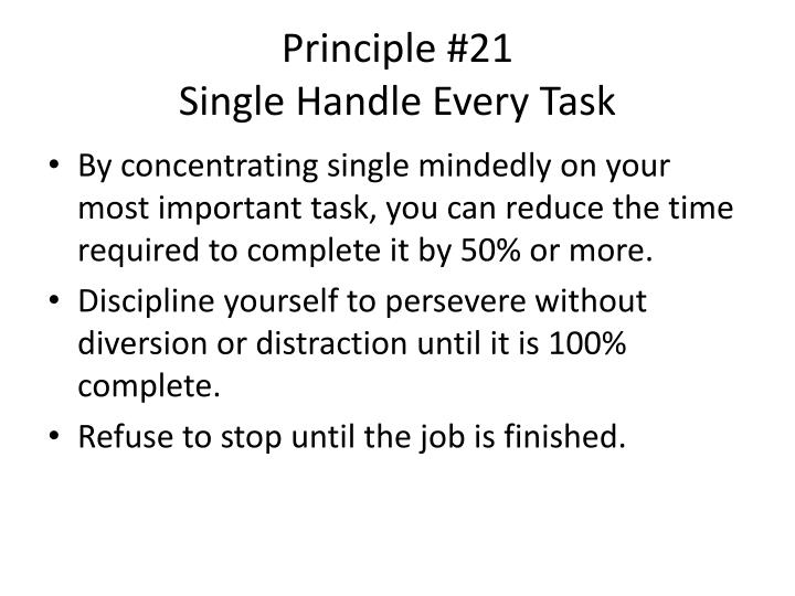 Principle #21
