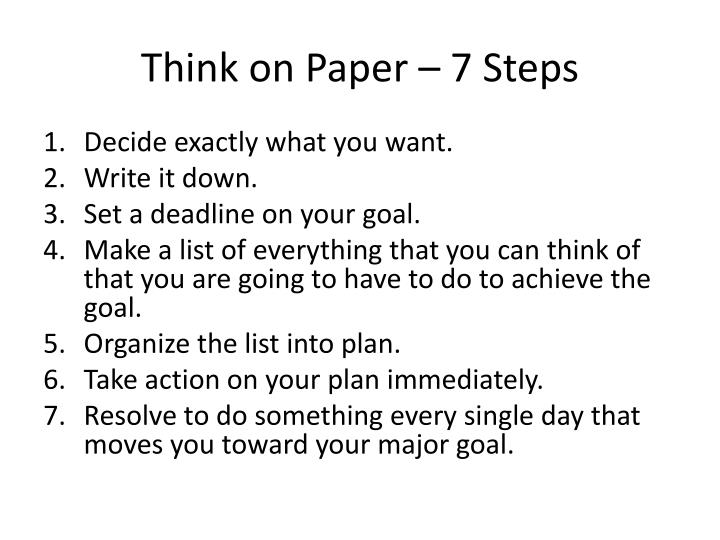 Think on Paper – 7 Steps