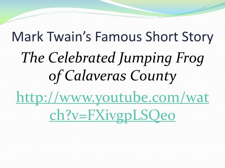 Mark Twain's Famous