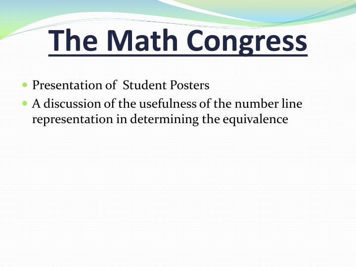 The Math Congress
