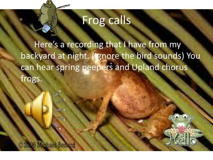 Frog calls