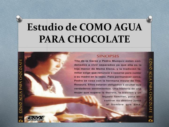 like water chocolate essay prompts Hispanic cuisine: a significant ingredient in like water for chocolate hispanic cuisine: a significant ingredient in like water for chocolate eating is a fundamental activity food, itself, is a major component of survival, for without it there would be no life on this earth.