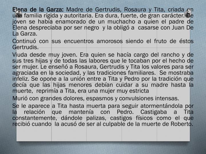 Elena de la Garza: