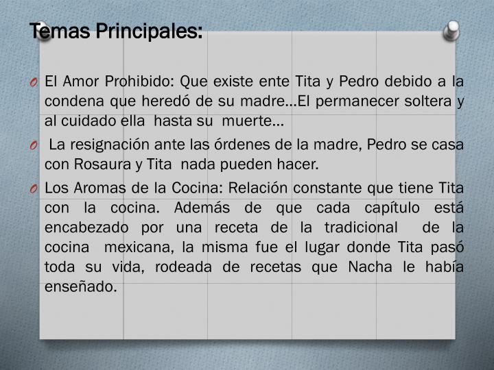 Temas Principales: