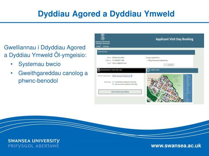 Dyddiau Agored a Dyddiau Ymweld