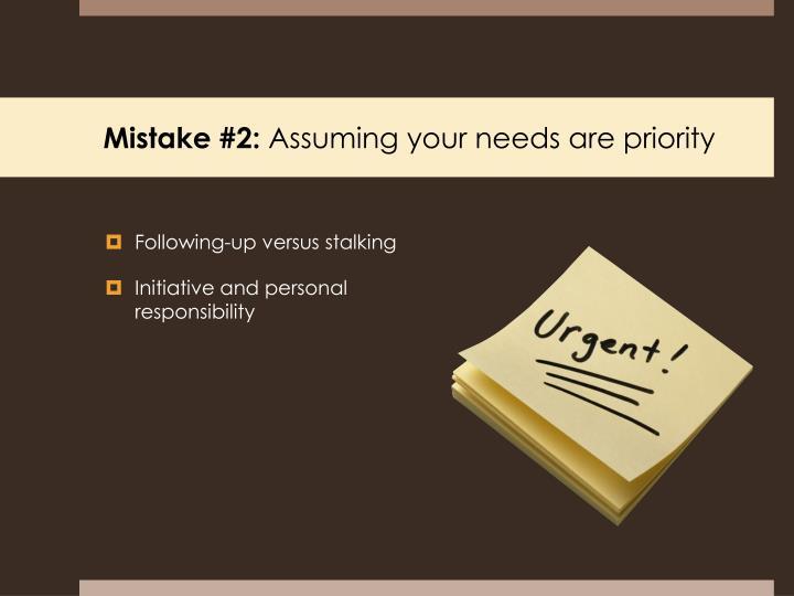 Mistake #2: