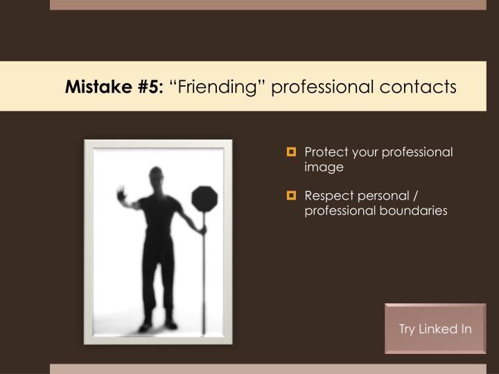 Mistake #5: