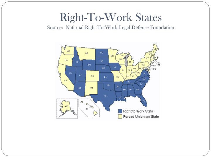 Right-To-Work States