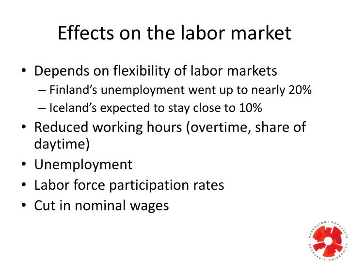 Effects on the labor market