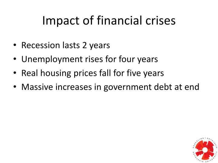 Impact of financial crises
