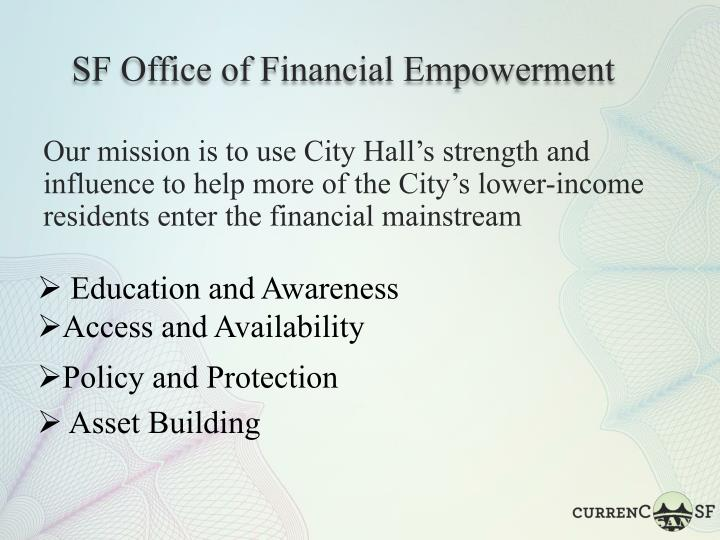 SF Office of Financial Empowerment