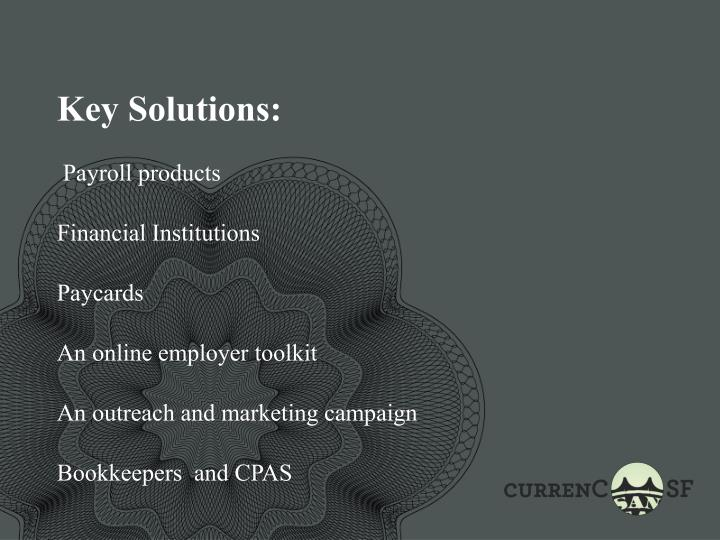 Key Solutions: