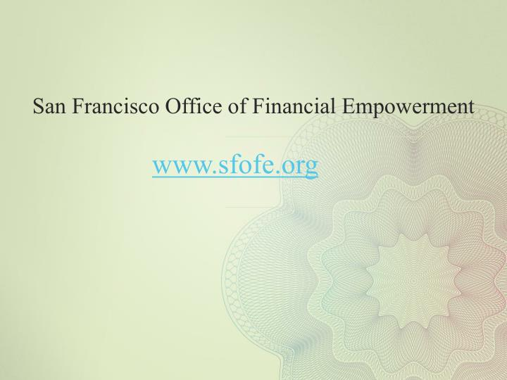 San Francisco Office of Financial Empowerment