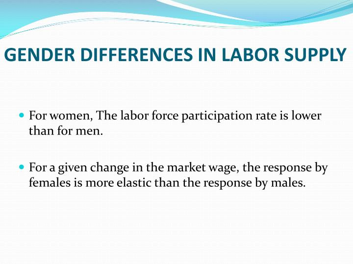GENDER DIFFERENCES IN LABOR SUPPLY