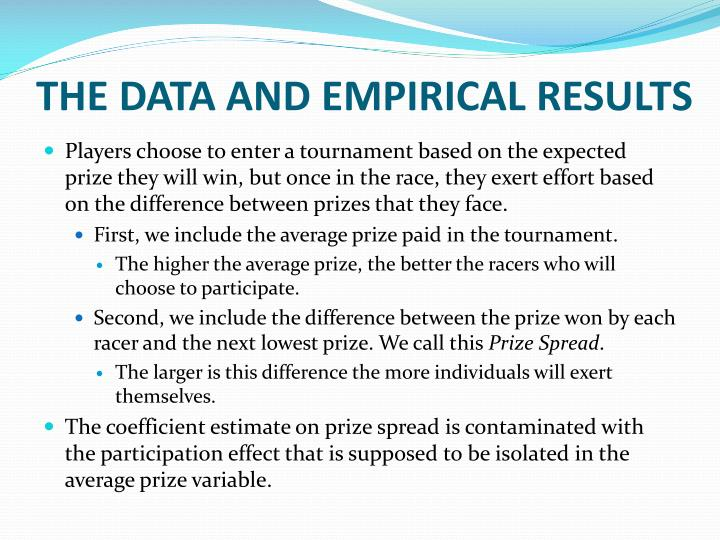 THE DATA AND EMPIRICAL RESULTS
