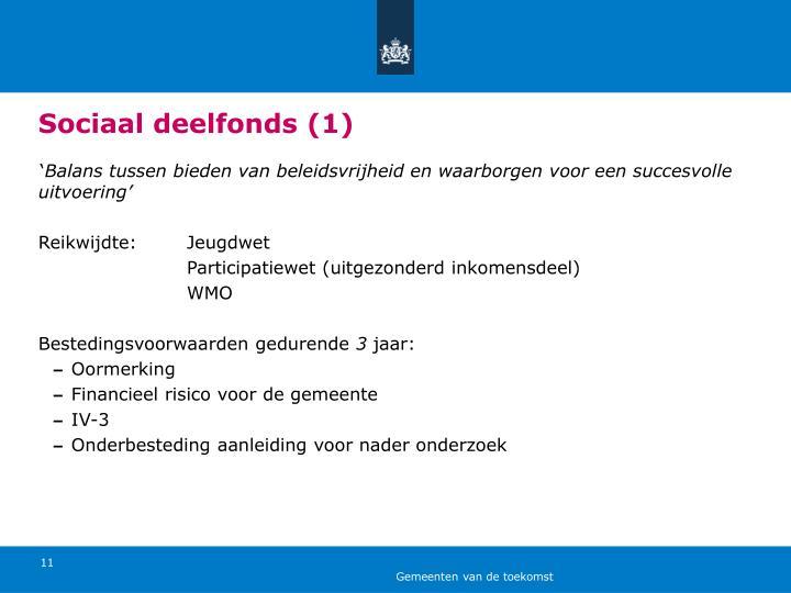 Sociaal deelfonds (1)