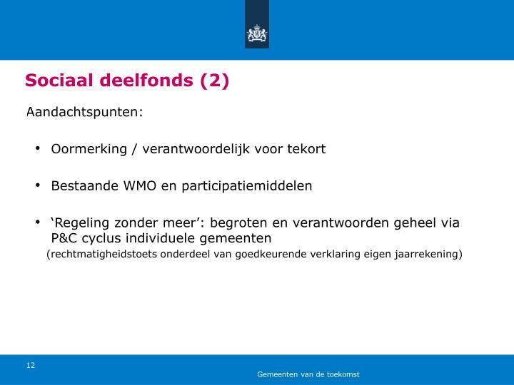 Sociaal deelfonds (2)
