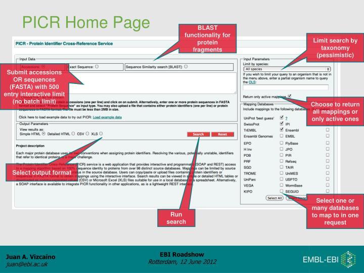 PICR Home Page